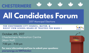 All Candidates Forum @ CRCA | Chestermere Recreation Centre