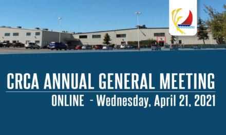 CRCA Annual General Meeting ONLINE – April 21